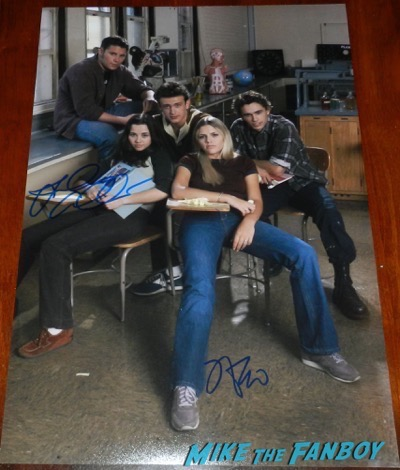 James Franco signed autograph freaks and geeks cast photo poster