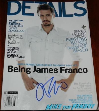 James Franco signed autograph details magazine PSA