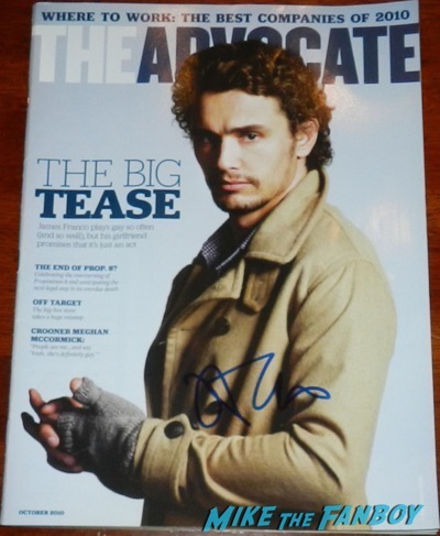 James Franco Signed Autograph Advocate magazine cover