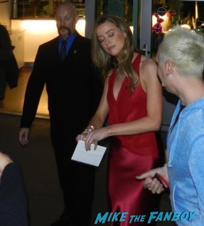 The Adderall Diaries premiere Amber Heard signing autographs 7