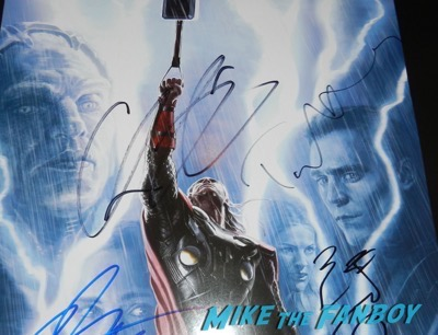 Tom Hiddleston signed autograph thor the dark world concept art poster