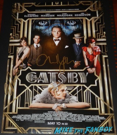 Elizabeth Debicki signed autograph the great gatsby mini poster