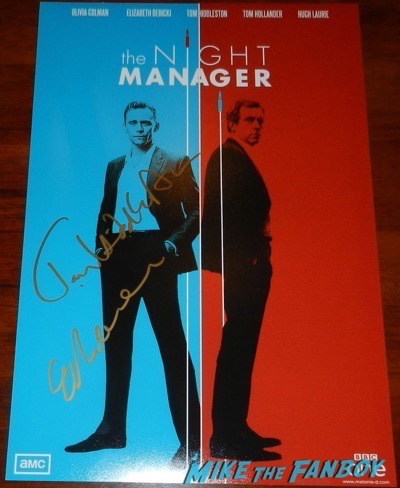 Tom Hiddleston signed autograph the night manager poster