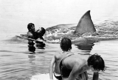 ted grossman on the set of jaws