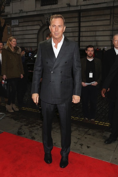 "LONDON, ENGLAND - APRIL 07:  Kevin Costner arrives for the UK premiere of ""Criminal"" at The Curzon Mayfair on April 7, 2016 in London, England.    Pic. Credit: Dave J HoganLONDON, ENGLAND - APRIL 07:  Kevin Costner arrives for the UK premiere of ""Criminal"" at The Curzon Mayfair on April 7, 2016 in London, England.    Pic. Credit: Dave J Hogan"