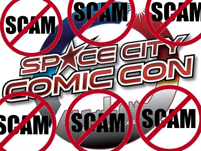Space City Comic Con Scam