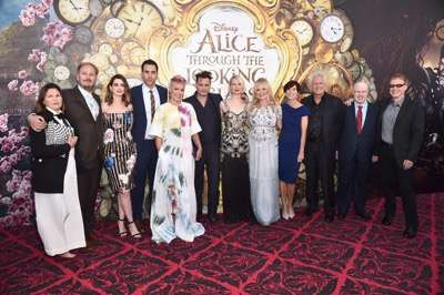 HOLLYWOOD, CA - MAY 23:  (L-R) Costume designer Colleen Atwood, director James Bobin, actors Anne Hathaway, Sacha Baron Cohen, singer-songwriter P!nk, actors Johnny Depp, Mia Wasikowska, producer Suzanne Todd, screenwriter Linda Wollverton, producer Joe Roth, actor Matt Lucas and composer Danny Elfman attend Disneyís 'Alice Through the Looking Glass' premiere with the cast of the film, which included Johnny Depp, Anne Hathaway, Mia Wasikowska and Sacha Baron Cohen at the El Capitan Theatre on May 23, 2016 in Hollywood, California.  (Photo by Alberto E. Rodriguez/Getty Images for Disney) *** Local Caption *** Colleen Atwood; James Bobin; Anne Hathaway; Sacha Baron Cohen; Alecia Beth Moore; Johnny Depp; Mia Wasikowska; Suzanne Todd; Linda Wollverton; Joe Roth; Matt Lucas; Danny Elfman
