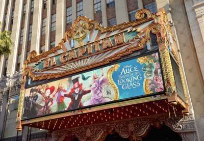 HOLLYWOOD, CA - MAY 23:  A view of the atmosphere at Disneyís 'Alice Through the Looking Glass' premiere with the cast of the film, which included Johnny Depp, Anne Hathaway, Mia Wasikowska and Sacha Baron Cohen at the El Capitan Theatre on May 23, 2016 in Hollywood, California.  (Photo by Charley Gallay/Getty Images for Disney)