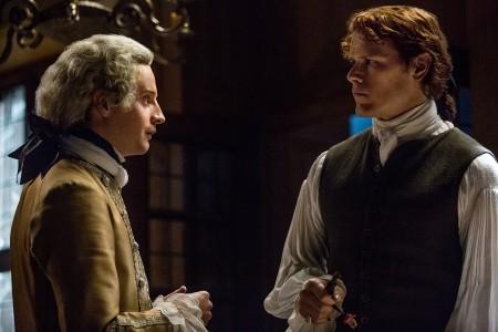 Andrew+Gower+(as+Prince+Charles+Stuart),+Sam+Heughan+(as+Jamie+Fraser)-+Episode+205