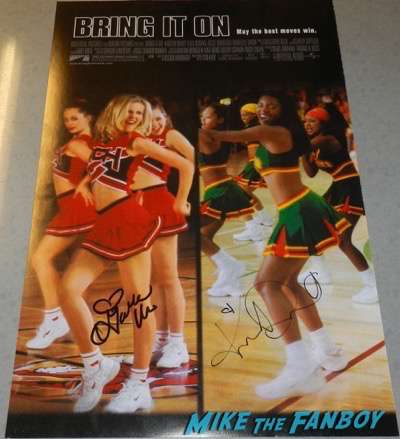 Bring it on signed autograph poster Gabrielle Union  Kirsten Dunst