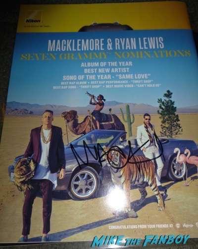 Ben Haggerty Macklemore signed autograph lp album