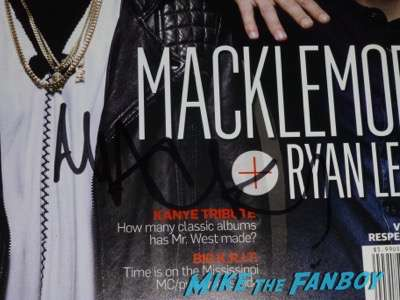 Ben Haggerty Macklemore signed autograph spin magazine