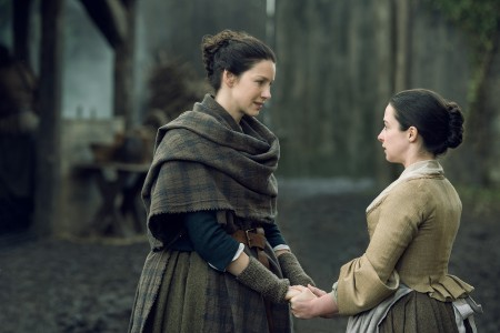 Caitriona Balfe (as Claire Randall Fraser), Laura Donnelly (as Jenny Murray)- Episode 208