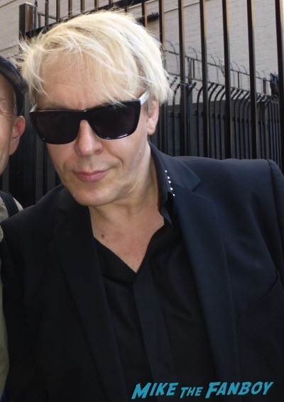 Nick Rhodes Duran Duran meeting fans signing autographs simon lebon3