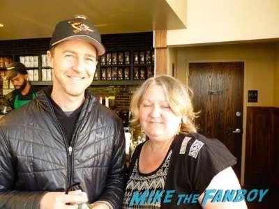 Edward Norton  fan photo signing autographs I am not a stalker