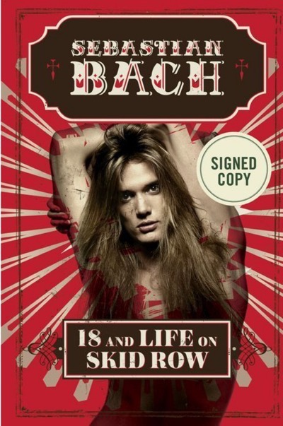 18 and Life on Skid Row signed book sebastian bach
