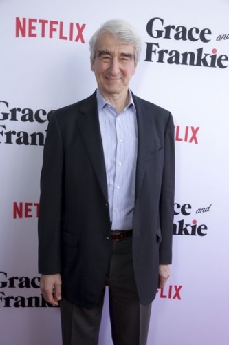 """Sam Waterston seen at Season Two Premiere of Netflix original series """"Grace and Frankie"""" on Sunday, May 1, 2016, in Los Angeles, CA. (Photo by Eric Charbonneau/Invision for Netflix/AP Images)"""