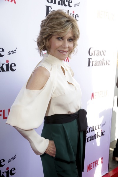 "Jane Fonda seen at Season Two Premiere of Netflix original series ""Grace and Frankie"" on Sunday, May 1, 2016, in Los Angeles, CA. (Photo by Eric Charbonneau/Invision for Netflix/AP Images)"