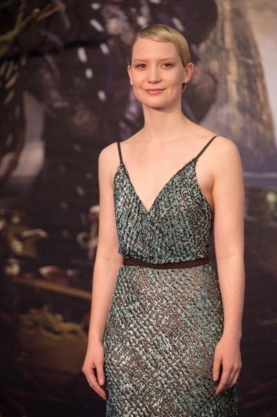 "LONDON UK : Mia Wasikowska, the star  of Disney's ""Alice Through The Looking Glass,"" attends the European Premiere in London on 10th May 2016.  ( Credit : James Gillham / StingMedia )"