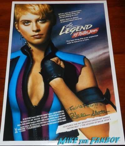 Helen Slater signed autograph the legend of billy jean poster