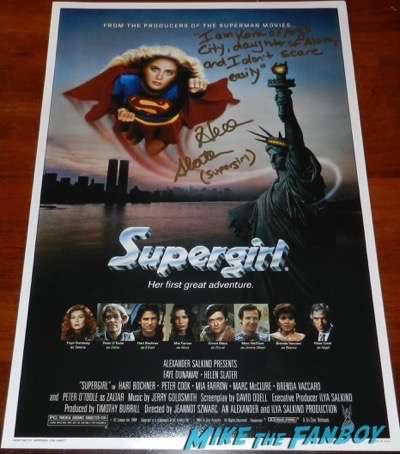 Helen Slater signed autograph supergirl poster