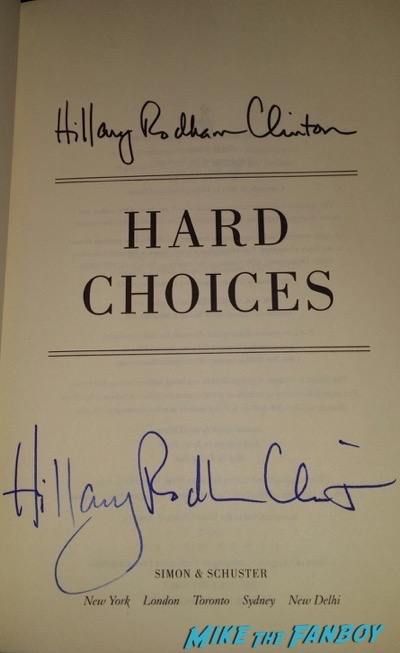 Hillary Clinton signed autograph book it takes a village