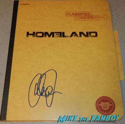 Claire Danes Signed Autograph Homeland season 1 presskit
