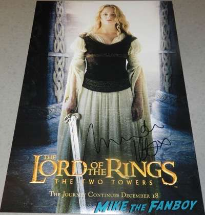 Miranda Otto Signed Autograph Eowyn poster character lord of the rings