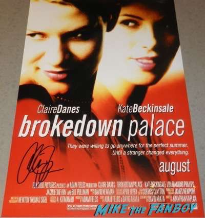 Claire Danes signed autograph Brokedown Palace poster