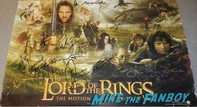 Miranda Otto Signed Autograph Lord of the Rings trilogy poster