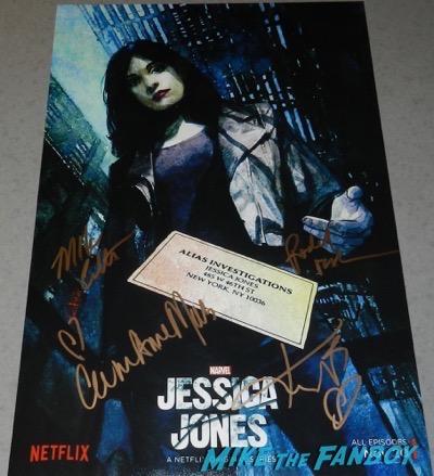 Jessica Jones signed autograph art poster kristen ritter carrie anne-moss