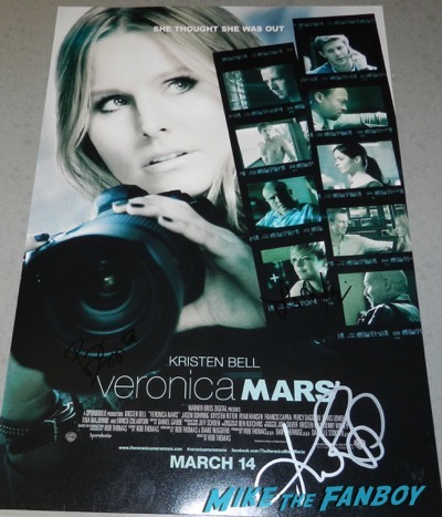 Kristen Ritter signed autograph veronica mars movie poster SDCC