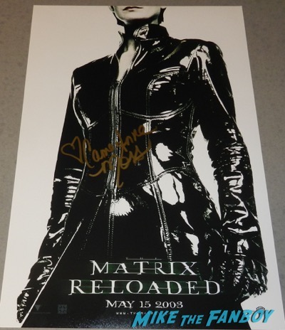 Carrie Anne-Moss signed autograph matrix poster