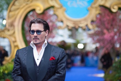 "LONDON UK : Johnny Depp, the star  of Disney's ""Alice Through The Looking Glass,"" attends the European Premiere in London on 10th May 2016.  ( Credit : James Gillham / StingMedia )"