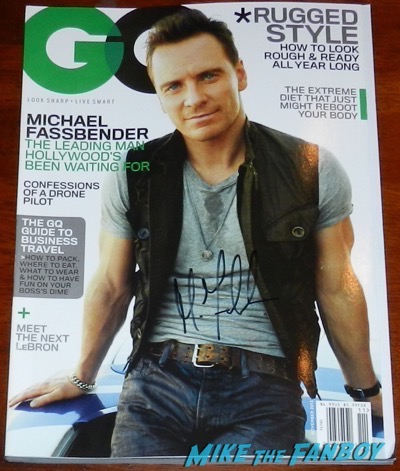 Michael Fassbender signed GQ Magazine 1