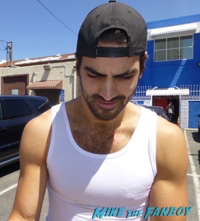 Nyle Dimarco signing autographs hot sexy tank top dancing with the stars
