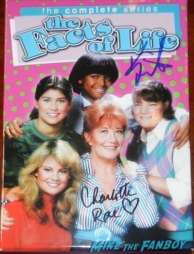 Facts of life dvd set signed autograph kim fields charlotte rae