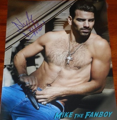 Nyle Dimarco signed autograph shirtless naked photo model no shirt muscle 3