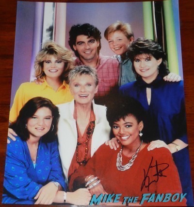 Facts of life cast photo signed autograph kim fields charlotte rae