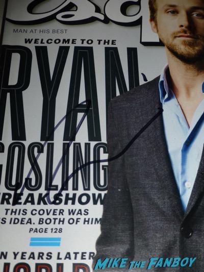 Ryan Gosling signed esquire magazine autograph PSA