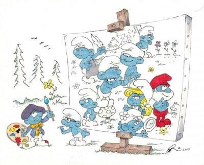 smurfs fun drawing