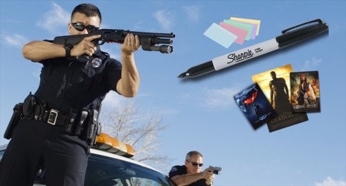 Police-Officer-Aiming-With-Gun-By-Car-Shutterstock-800x430