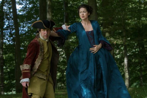 Robbie McIntosh (as Magnus), Caitriona Balfe (as Claire Randall Fraser)- Episode 206 (2)