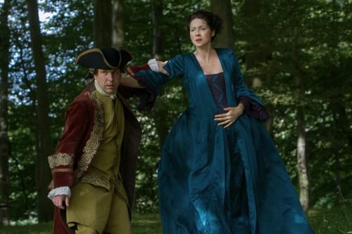 Robbie McIntosh (as Magnus), Caitriona Balfe (as Claire Randall Fraser)- Episode 206 (2)