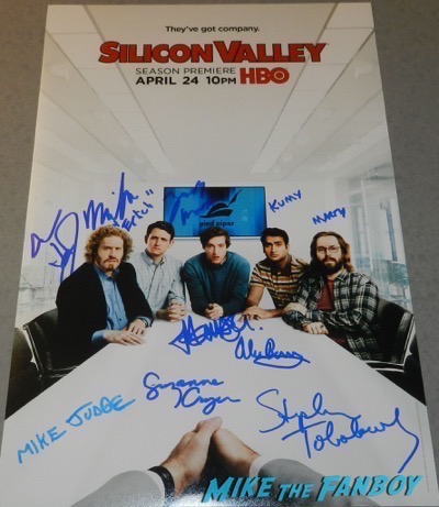 Silicon Valley signed autograph poster tj miller zach woods psa