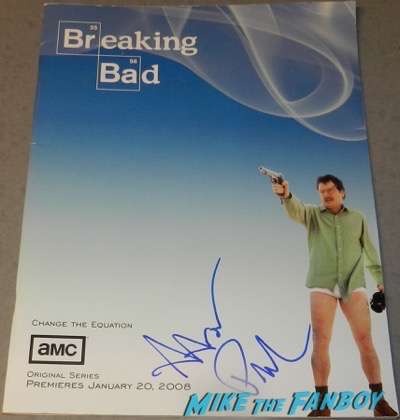 aaron paul signed breaking bad season one presskit rare