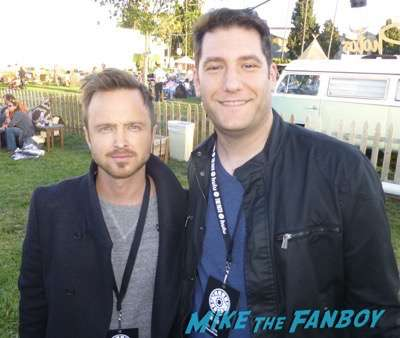 aaron paul signing autograph fan photo The Path FYC q and a reception Aaron Paul 12