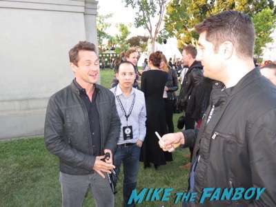 Hugh Dancy signing autographs fan photo The Path FYC q and a reception Aaron Paul 15