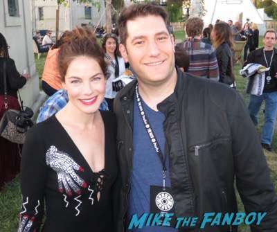 Michelle Monaghan signing autographs fan photo The Path FYC q and a reception Aaron Paul 19