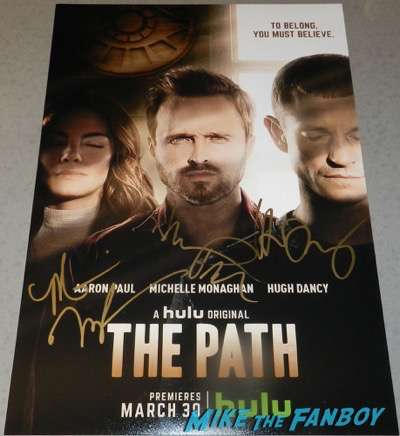 aaron paul hugh dancy signed autograph the path poster